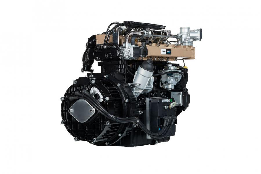 The K-HEM 2504 is a hybrid unit generating a combination of electrical and mechanical power consisting of a KDI 2504TCR 55.4 kW diesel engine that complies with Stage V legislation and is without SCR, and a 48 Volt electric motor that guarantees 19.5 kW peak power and 9 kW continued power, and maximum safety levels due to the voltage.