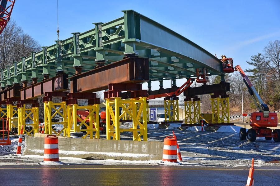 Bridge span 2 takes shape.