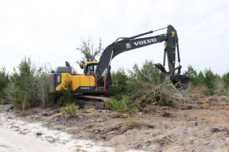 The land to be cleared in the project is flat and sandy, as Bay County is located in the Florida Panhandle.