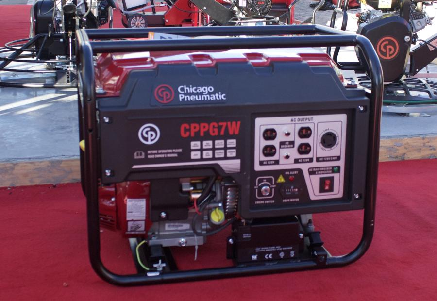 The largest portable generator in the CP lineup, the CPPG 7W features a 6.6-gal. fuel tank that can run continuously for 8 hours. At 120 or 240 volts, the generator produces a continuous output of 7,000 watts.