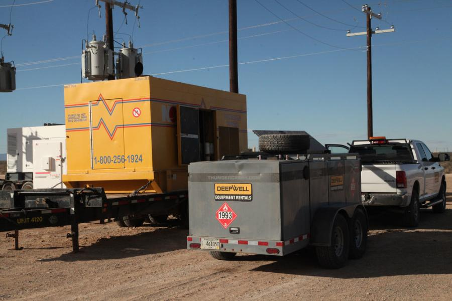 """You're not going to get a fuel tanker to go and fill up a 50-gallon tank,"" said Kyle Comeaux, DeepWell's operations manager. Instead, DeepWell turned to Thunder Creek Equipment's 690-gal. multi-tank trailer (MTT 690)."