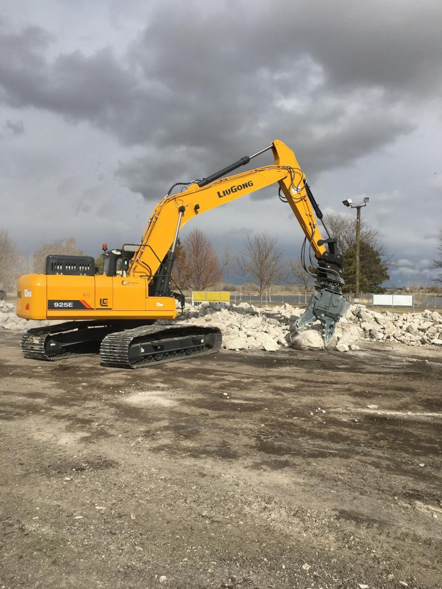"The Kinshofer MQP-30-Y Multi-Quick processor and LiuGong NA 925E excavator combination were featured at the ""DEMOlition"" event held by the National Demolition Association at its 2019 Demolition Rockies expo."