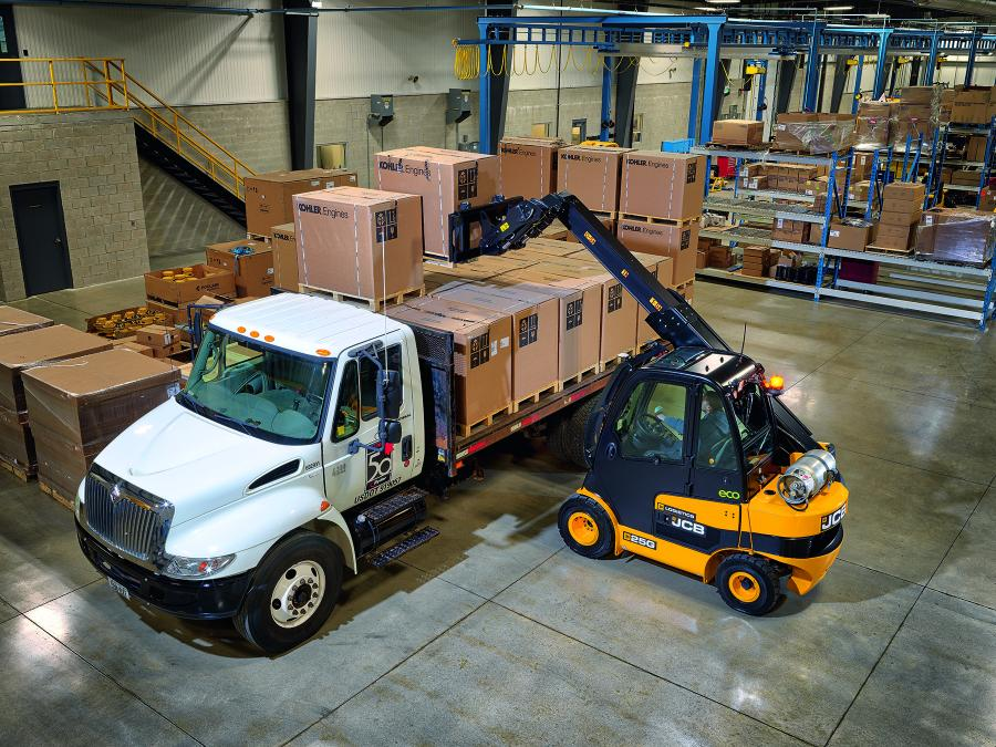 The JCB Teletruk is the world's only telescopic counterbalance forklift, allowing it to lift higher and reach further than a conventional forklift.