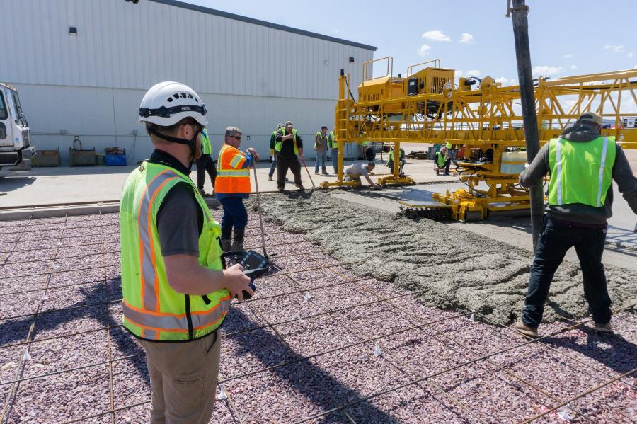 The students had the opportunity to have hands-on training, being involved in an actual concrete pour along with Terex Bid-Well's service technicians, who shared their experience and knowledge with the operators, showing them proper technique, how to achieve a uniform and consistent finish, as well as time-saving tips and tricks to get the most out of their Terex Bid-Well paving equipment.