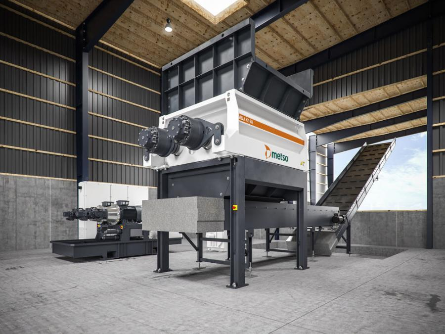 M&J K160 is one of the first two models of the new Metso M&J K-series pre-shredders.
