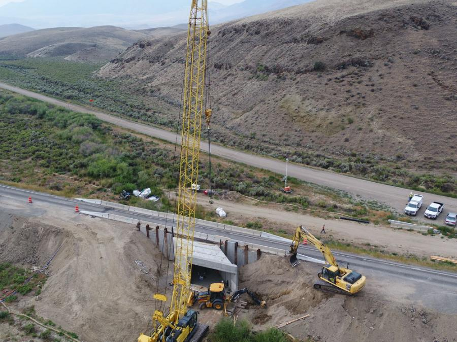 """""""In the design/bid/build process, usually there is one bridge per project and usually it takes one year to design and get into construction. Just in time alone, we're saving basically 17 years,"""" said Megan Stark, ITD spokeswoman. (Idaho Department of Transportation photo)"""