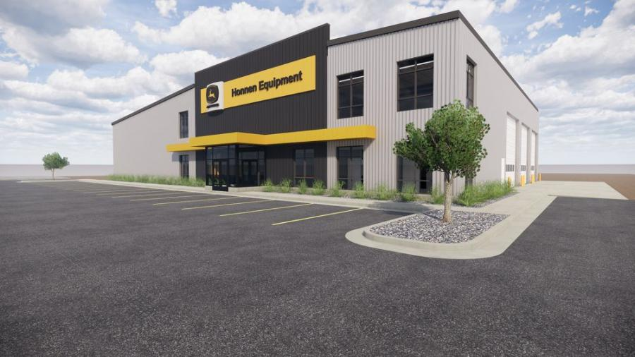 With more than 13,000 sq. ft. of space for parts and in-shop service, Honnen Equipment's new Cheyenne Wyo., facility will be set on a 5-acre site to include plenty of equipment for customer rental and sales.