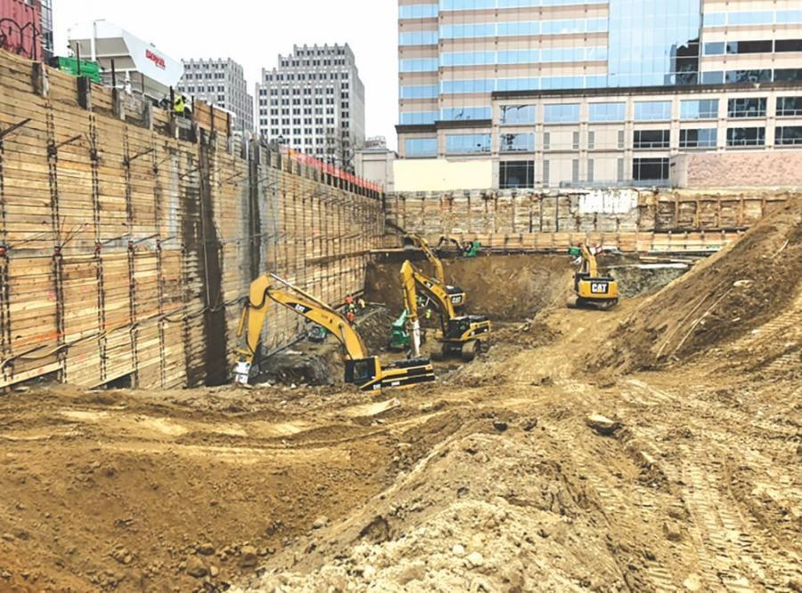 In addition, 170 steel piles for support of excavation have been drilled, as well as 438 tie backs for support of excavation.