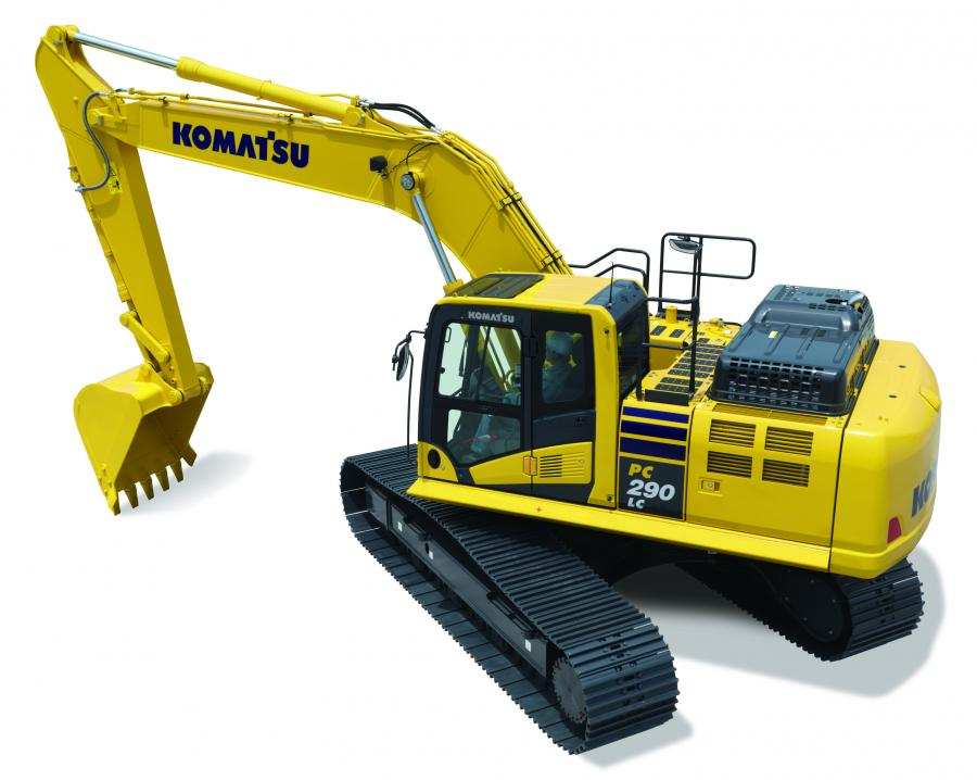The PC290LCi-11 is perfect for applications where the customer is looking for good stability and working range, while avoiding the transportation limits of larger-size-class excavators, according to Komatsu.