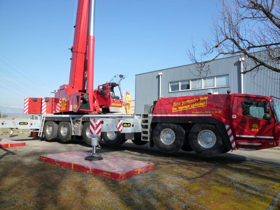 Emil Egger AG has purchased a GMK6300L-1, a GMK5250L and a GMK5150L from Stirnimann AG to operate out of the company's new location.