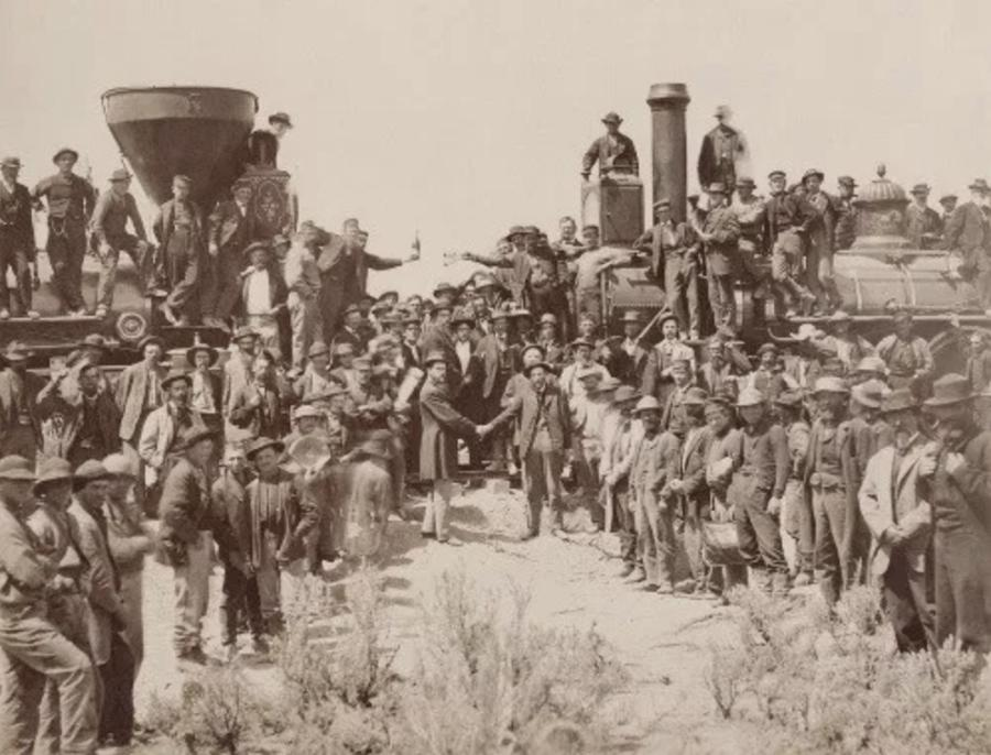 The new cross-country railroad proved to be pivotal development in American history – reducing a six-month trip to California from the east to no more than two weeks and in the process significantly shrinking distances between various sections of an ever-growing nation. (Yale University Libraries photo)