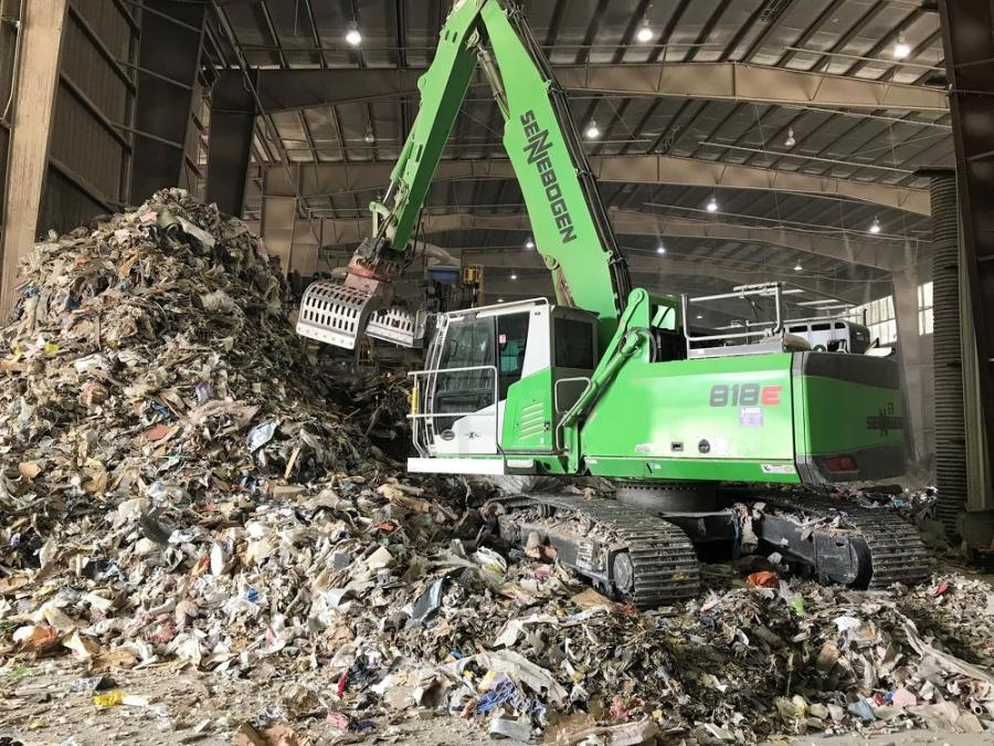 The Sun Services facility receives 125 to 200 truckloads of waste material every day, six days a week.