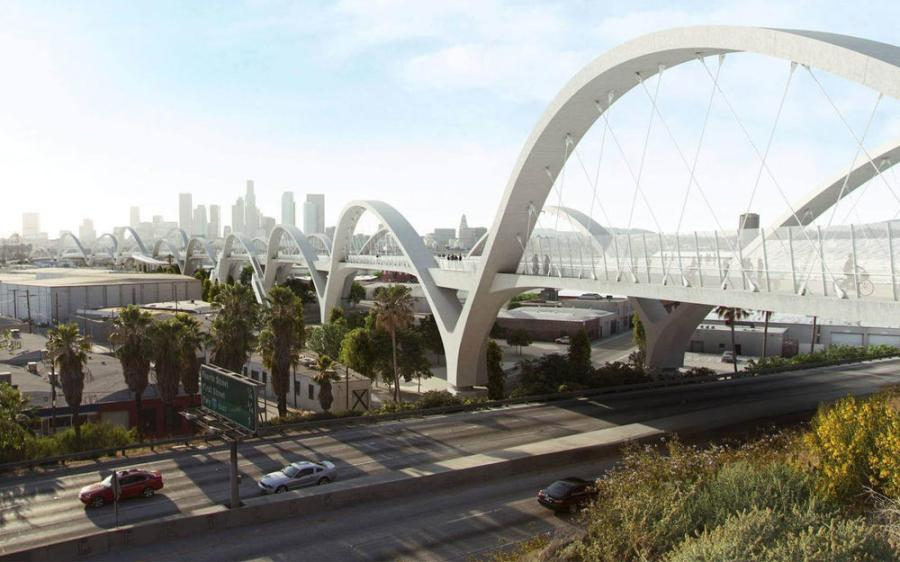 When finished, the new viaduct is expected to have ten pairs of lit arches along with stairway access and bike ramps.