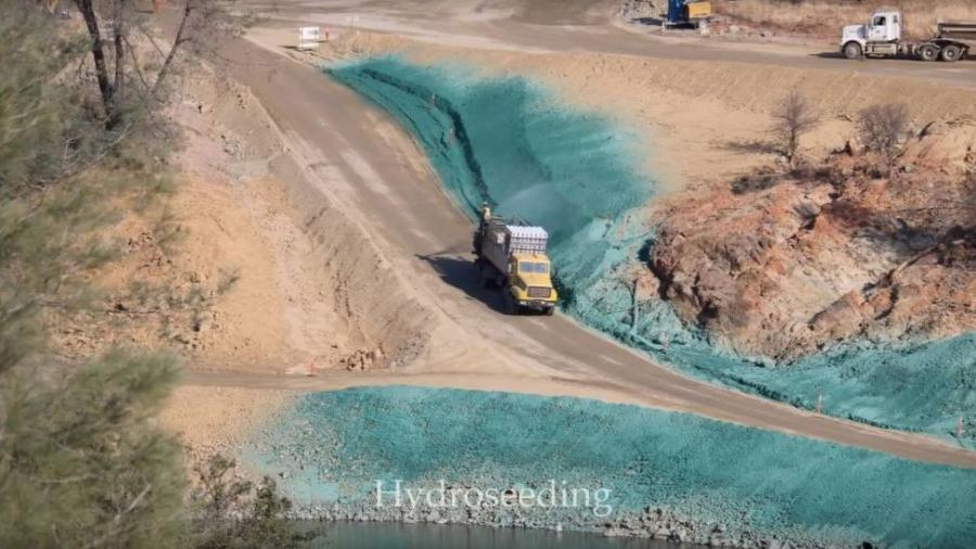 Hydroseeding Stabilizes Oroville Dam During, After Crisis