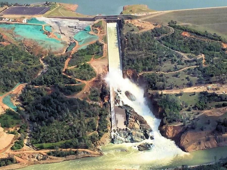 Selby and his team worked through the night to repair the Oroville dam's emergency spillway weir and ensure that any subsequent rains or spillage wouldn't further erode the structure.