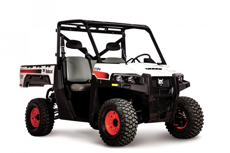 Bobcat UV34 utility vehicles offer seating for an operator and two passengers, while the extended UV34XL has room for an operator and five passengers.