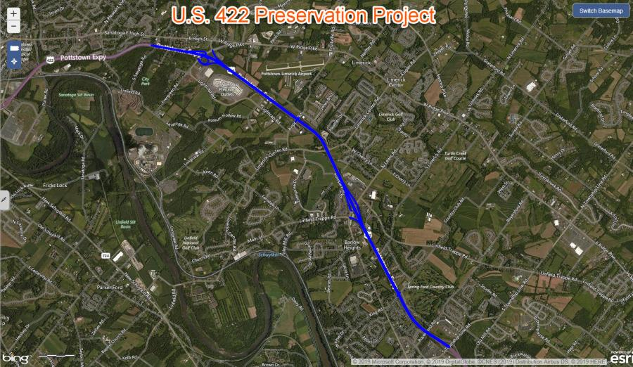 Construction has begun on a project to rehabilitate pavement and repair seven structures along a 5-mi. section of U.S. 422.