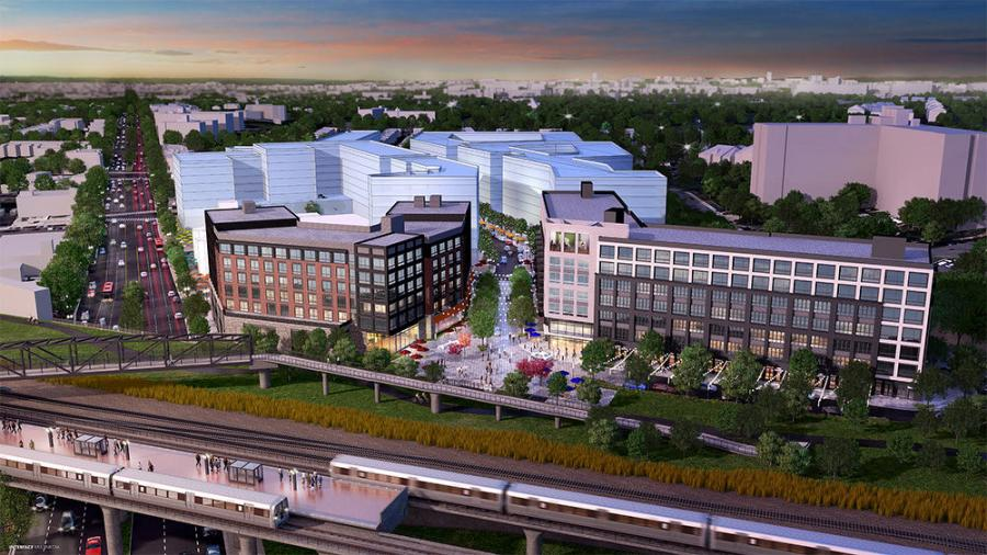 Bryant Street is being developed near the intersection of Rhode Island Avenue and Fourth Street adjacent to the Rhode Island Metro Station (Red Line) and the Metropolitan Branch Trail.