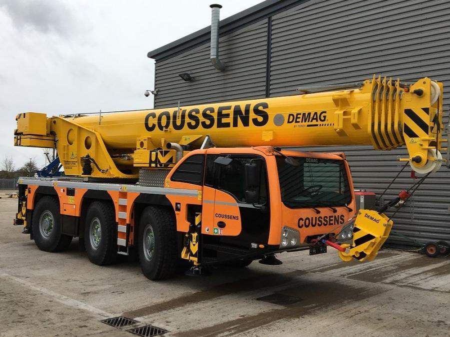 Paul Coussens considers the Demag AC 60-3 all terrain crane to be an ideal machine for lifting roof trusses, steel girders, and concrete components at large working radii or over and beyond obstacles.
