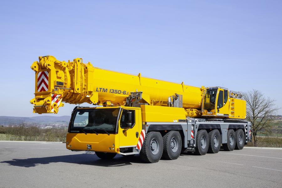 The LTM 1350-6.1 is a 6 axle, 400 ton (362.8 t)-class crane.