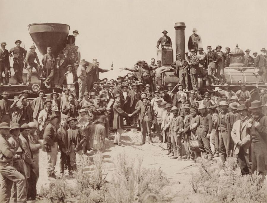 The 1869 completion of the 1,800-mi. (2,900 km) rail line shortened cross-county travel from as long as six months in wagons and stagecoaches to about 10 days on the rails.