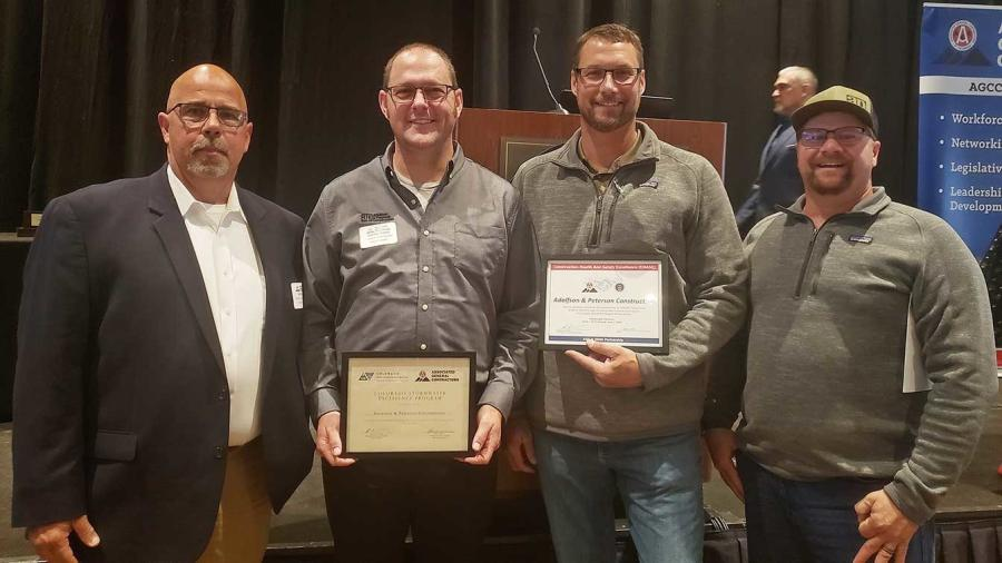 Adolfson & Peterson Construction (AP) received two honors at the 2019 AGC Safety & Environmental Awards Ceremony.