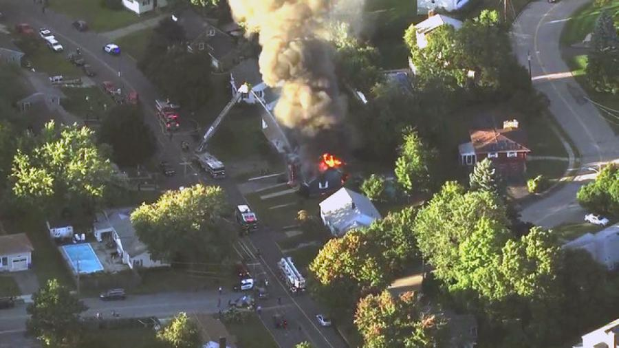 The explosions and fires Sept. 13 in Lawrence, Andover and North Andover were triggered by over-pressurized gas lines. (wpri.com photo)