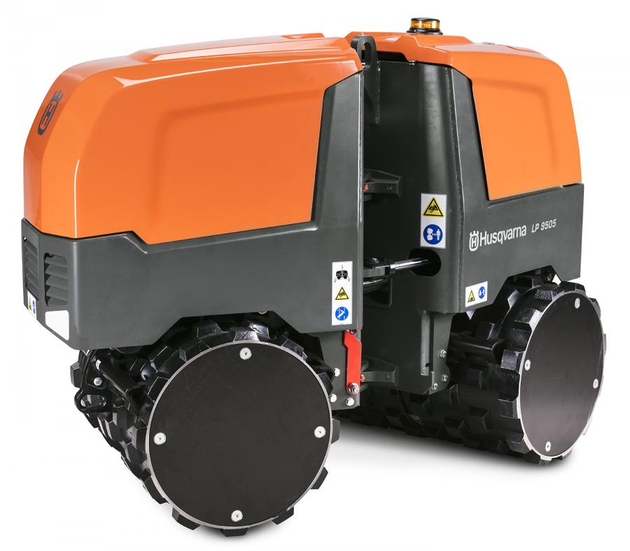 Husqvarna's LP 9505 features a single lifting point with a large lifting eye. The articulation joint is secured with a foldable transport lock. There also are eyelets in the front and back end for hauling.