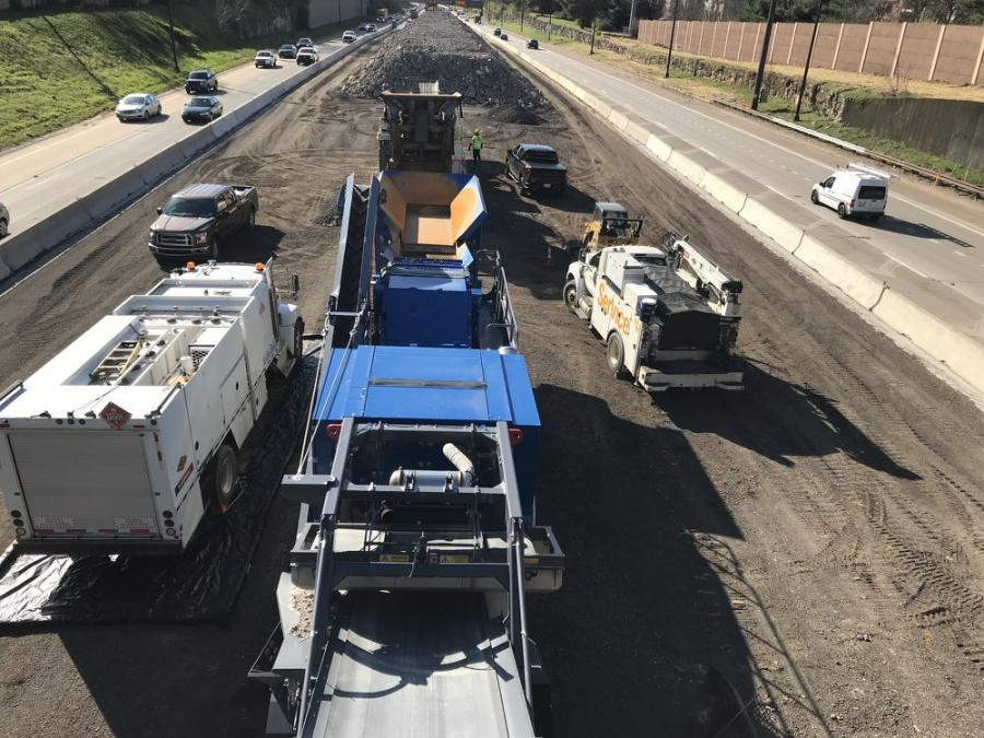 TNDOT's reconstruction of Interstate 440, from Interstate 40 to Interstate 24 in Davidson County, includes removing substandard pavement and providing three lanes of travel in each direction for approximately 7.6 mi.