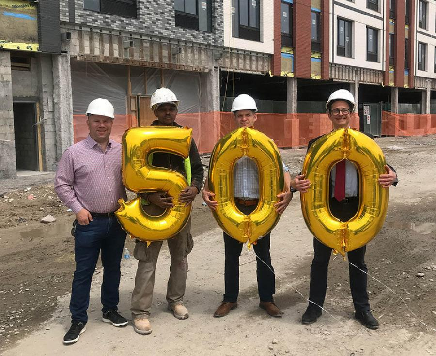 Building Skills NY celebrates its 500th construction placement.