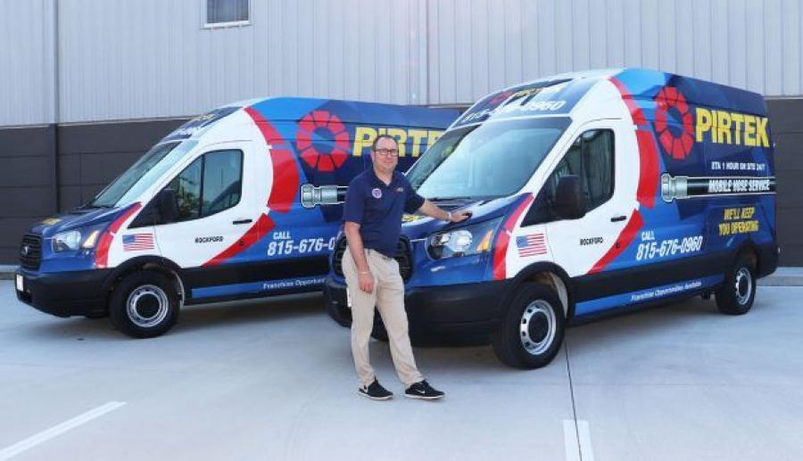 Bert Banaszak, a longtime employee of PIRTEK O'Hare, starts PIRTEK Rockford under the company's mobile-only, Tier 2 program.