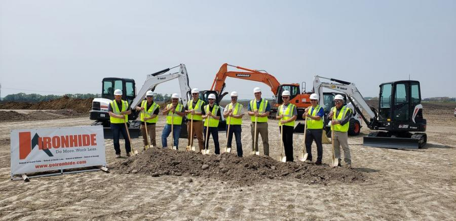 Ironhide Equipment, a Bobcat dealership, formally broke ground on a new customer service center the week of June 3, in Grand Forks, S.D.