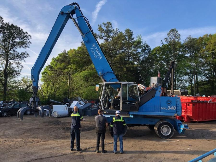 """It came down to just changing my mindset about buying a newer piece, really, and it was a move I am glad that I made,"" ABC Recycling's Adam Blank said of his recent purchase of a 2011 Terex Fuchs MHL340 material handler."