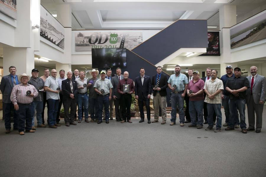 At the June 3 OTC meeting , Gov. Kevin Stitt and Secretary of Transportation and Oklahoma Department of Transportation Executive Director Tim Gatz congratulated the ODOT division and crews with the best safety records from the past year.