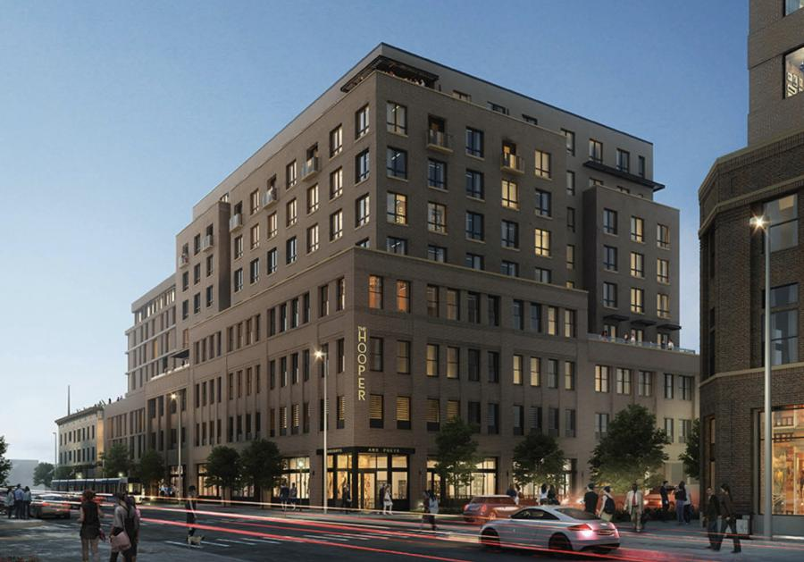 This $31 million project is a new construction of a nine-story mixed use building.