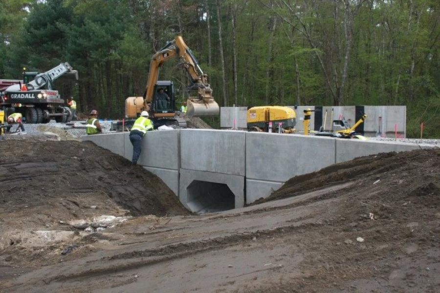 From Middleborough to New Bedford and Fall River, MassDOT's contractor will replace a total of 46 culverts with new precast structures, clean an additional 16 existing culverts and remove one out-of-service culvert.