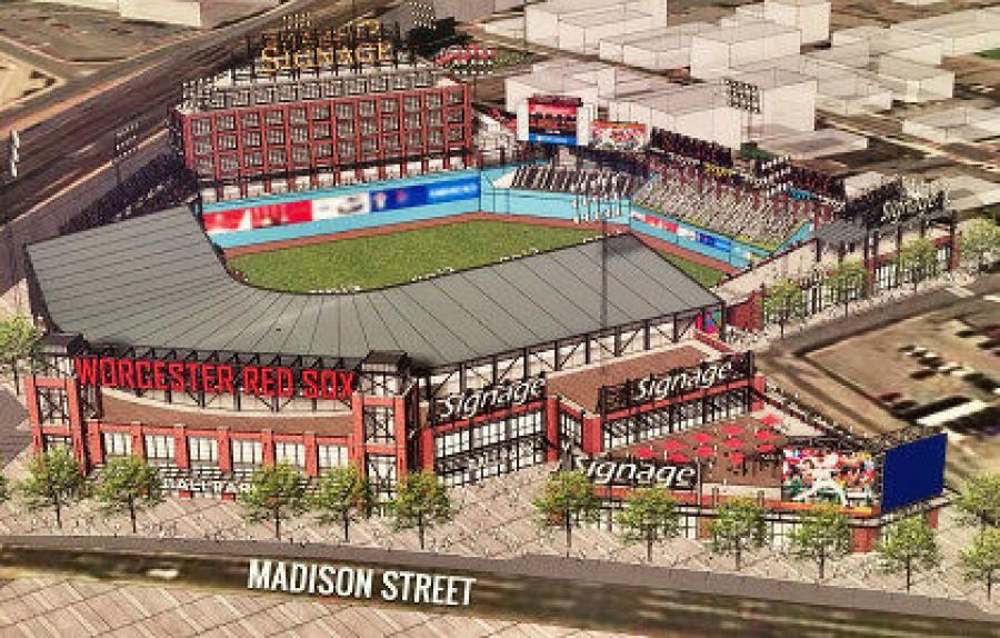 A rendering of the new Worcester Red Sox stadium.(Worcester Red Sox photo)