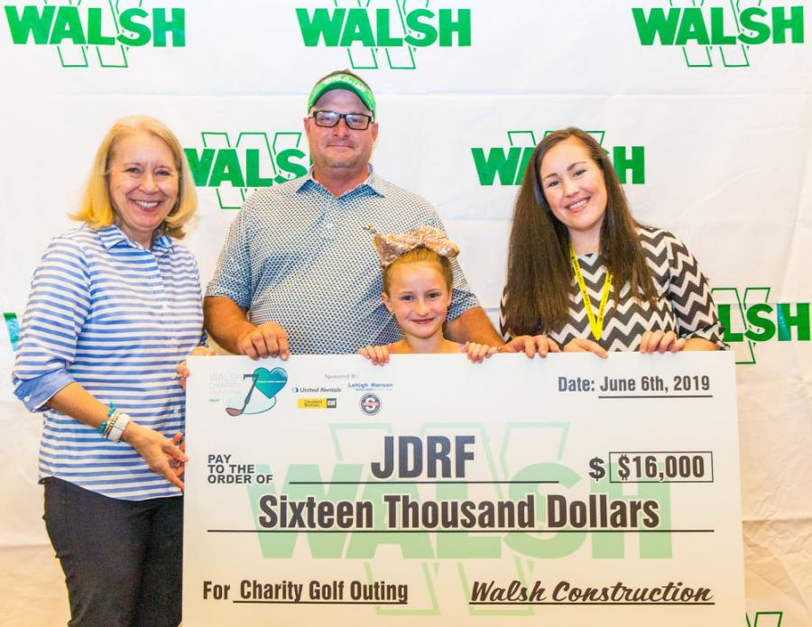 JDRF was one of the recipients of Walsh Construction's seventh annual Pennsylvania regional charity golf outing.