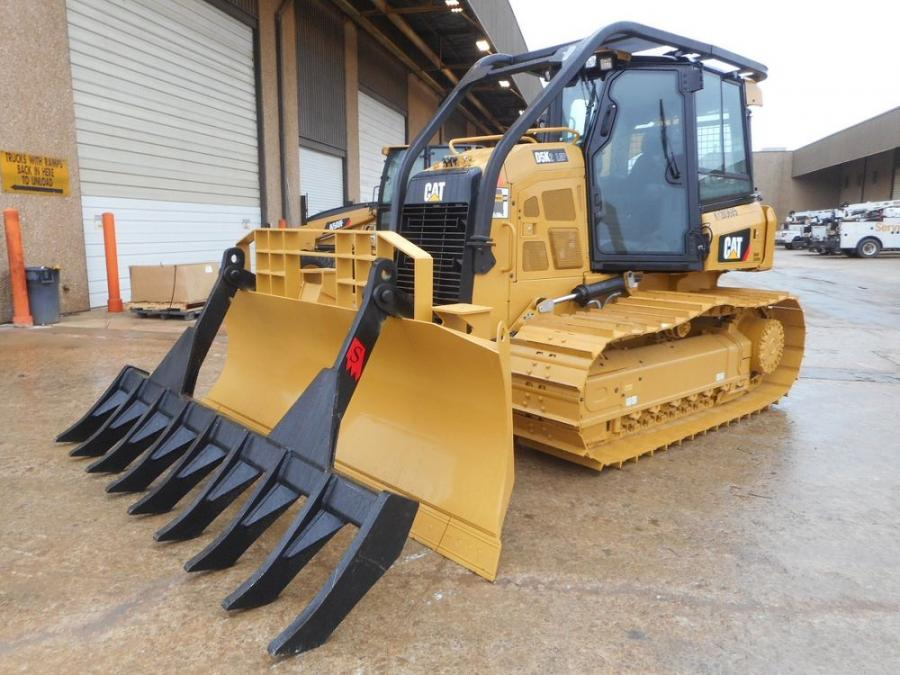 Solesbee's blade-mounted dozer rakes feature a c-curve design that effectively windrows material while minimizing the amount of dirt pushed with it.