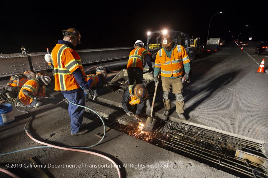 Caltrans: Initial Fixes on RSR Bridge Due to Complete in