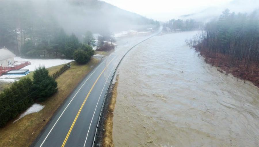 Vermont experienced flooding and rapid runoff as the result of heavy rain and snowmelt on April 15 to16 and on April 19 to 20. 