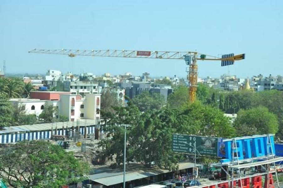 Mumbai-based construction company, Bhanu Construction is using a Potain MCT 85 crane to ensure on-time construction of a new temple in the town of Shirdi, India.