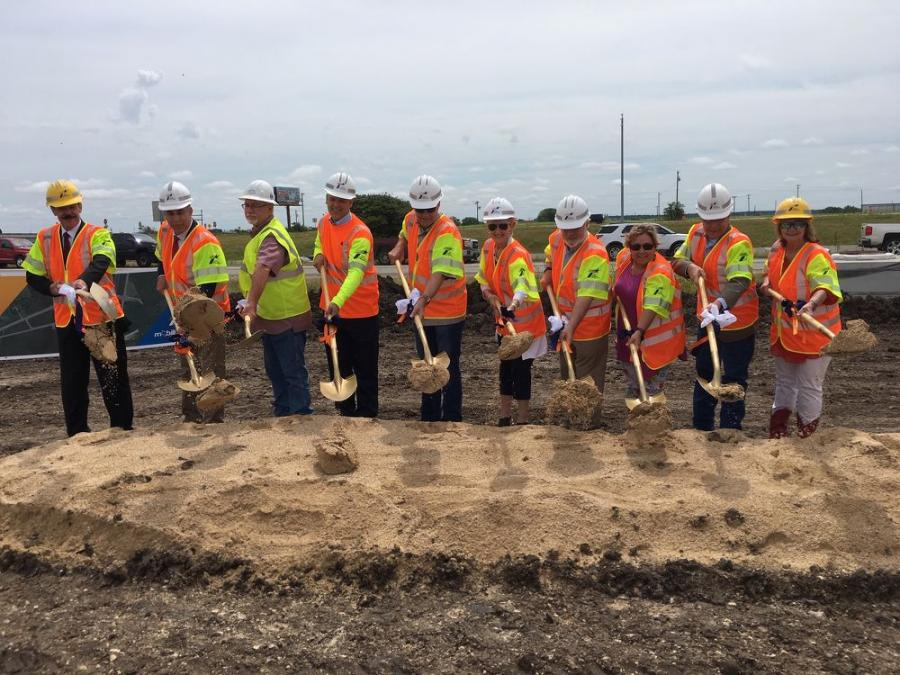 Officials break ground on the I-35 at Ronald Reagan Boulevard project in Williamson County.