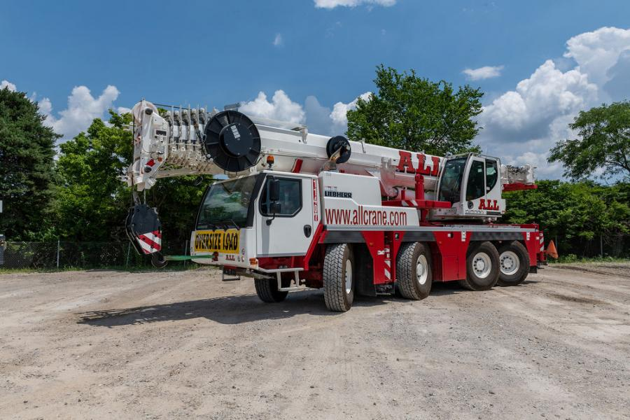 ALL Crane Rental Corp. of Columbus has acquired three new Liebherr all-terrain cranes. Included in the package are an LTM 1060-3.1, LTM 1090-4.2, and LTM 1160-5.2.