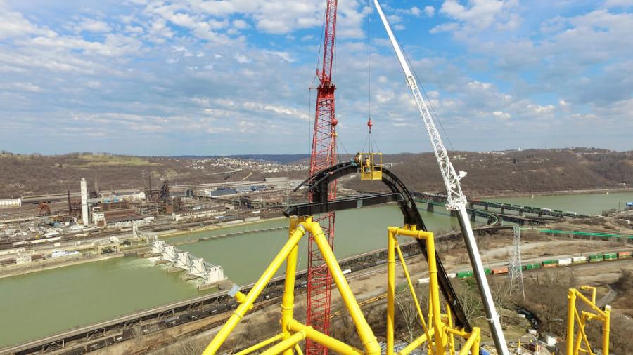 """The cranes' biggest challenge was the weather condition,"" said Keith Duell, sales representative of ALL Crane Rental of Pennsylvania LLC. ""When it gets too windy, we had to shut the cranes down per manufacturer requirements."""