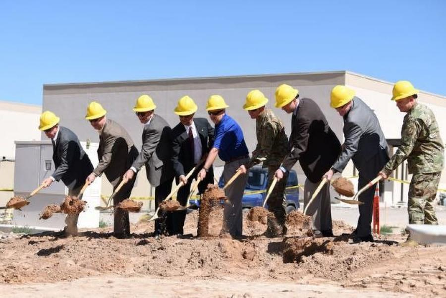 The groundbreaking ceremony at Kirtland Air Force Base