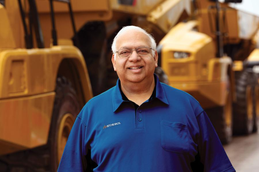 In an interview with Construction Equipment Guide (CEG) about his tenure at Ritchie Bros., Ravi Saligram made evident his deep passion for the company, its customers and its employees.