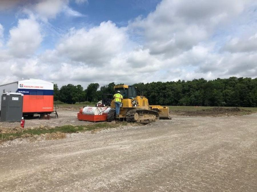 Crews from Rudolph Libbe Inc., of the Rudolph Libbe Group, are completing earth work and site preparation for the new 32,000-sq.-ft. headquarters of Credit Adjustments Inc. (CAI) in Defiance, Ohio.