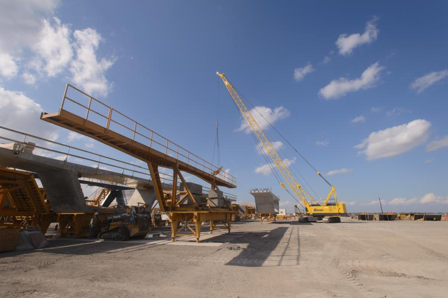 Supported by extensive research and planning, a modern and massive new $802.9 million U.S. 181 Harbor Bridge is taking form in Corpus Christi, Texas. (Flatiron/Dragados LLC photo)