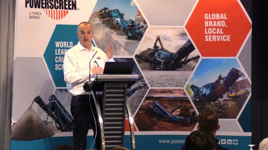 Kieran Hegarty, president Terex MP, at the recent Digital Dealer Forum.